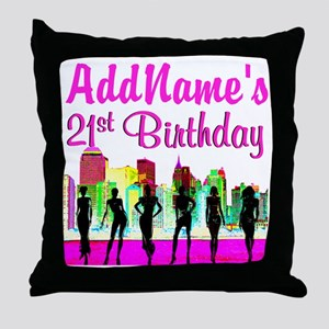CHARMING 21ST Throw Pillow