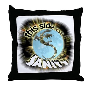 This Side of Sanity Throw Pillow