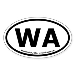 Washington Oval Bumper Decal