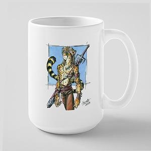 Cheetah Warrior Furry Large Mug