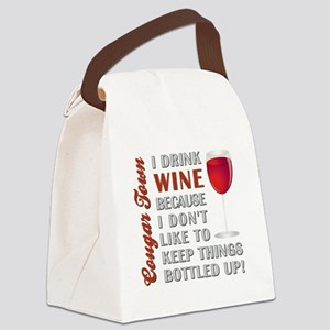 I DRINK WINE... Canvas Lunch Bag
