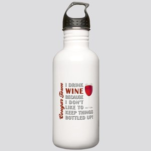 I DRINK WINE... Stainless Water Bottle 1.0L