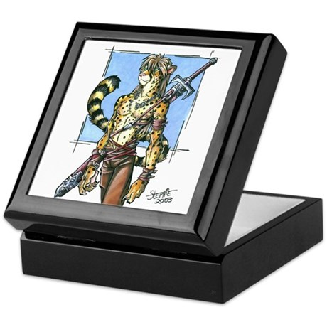 Cheetah Warrior Furry Keepsake Box