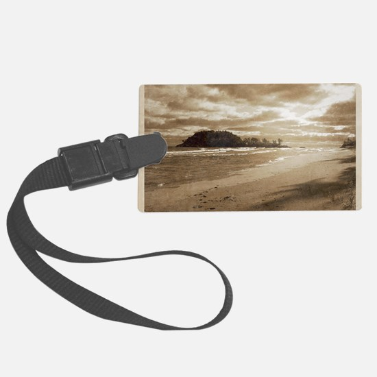 Footsteps In The Sand Luggage Tag