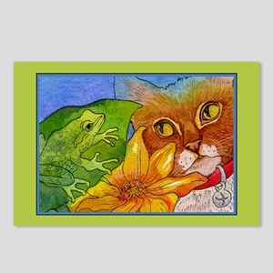 Cat Sees Frog Postcards (Package of 8)