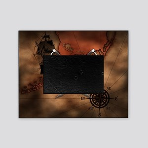 Pirate Map Picture Frame