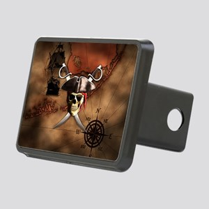 Pirate Map Rectangular Hitch Cover