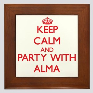 Keep Calm and Party with Alma Framed Tile