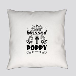 I Am One Blessed Poppy Everyday Pillow