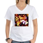The Orchid Galaxy Women's V-Neck T-Shirt