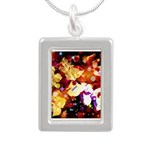 The Orchid Galaxy Silver Portrait Necklace
