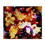 The Orchid Galaxy Throw Blanket