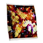 The Orchid Galaxy Burlap Throw Pillow