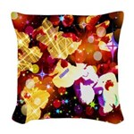 The Orchid Galaxy Woven Throw Pillow