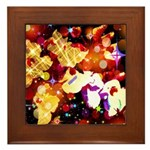 The Orchid Galaxy Framed Tile