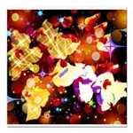 The Orchid Galaxy Square Car Magnet 3