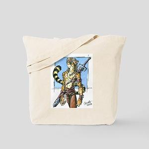 Cheetah Warrior Furry Tote Bag