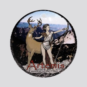 Artemis Greek virgin goddess  Ornament (Round)