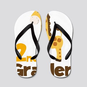 2nd Grader giraffe Flip Flops
