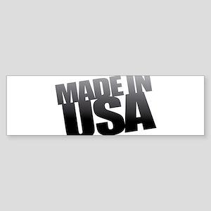 USA BLACK Bumper Sticker