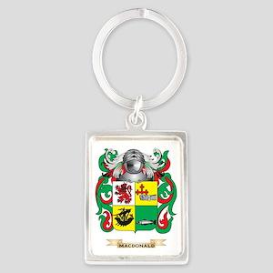 MacDonald-(Slate) Coat of Arms - Portrait Keychain