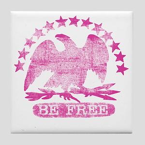 be-free-hot Tile Coaster