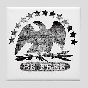 be-free-bw Tile Coaster