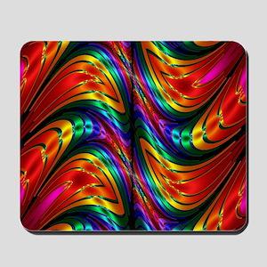 Fractal Silk Rainbow Pattern Mousepad