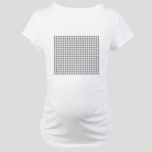 Retro Houndstooth Vintage  Grey Maternity T-Shirt