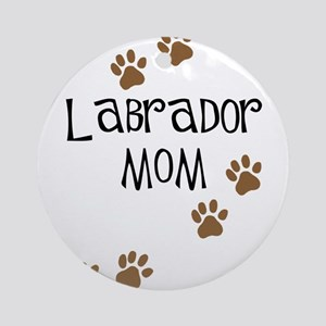 Labrador Mom Round Ornament