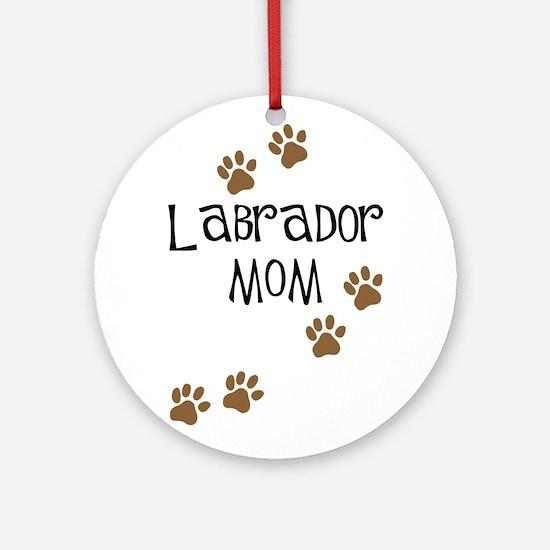 Labrador Mom Ornament (Round)
