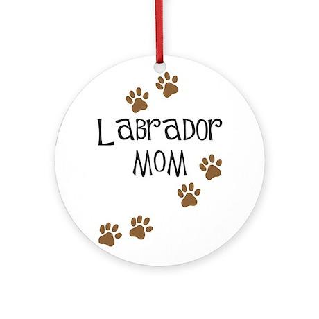 Labrador Mom Round Ornament