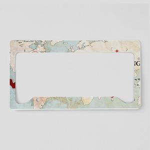 Renee Descartes Historical Mu License Plate Holder