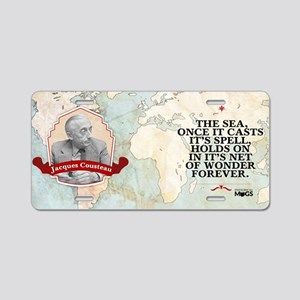 Jacques Yves Cousteau Histo Aluminum License Plate