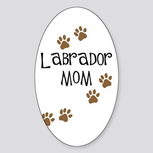Labrador Mom Oval Sticker