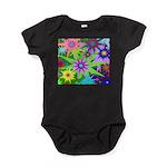 Exploding Stars Graphic Baby Bodysuit