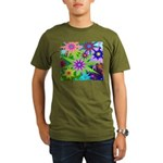 Exploding Stars Graphic Organic Men's T-Shirt (dar