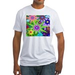 Exploding Stars Graphic Fitted T-Shirt