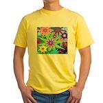 Exploding Stars Graphic Yellow T-Shirt