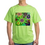 Exploding Stars Graphic Green T-Shirt