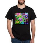 Exploding Stars Graphic Dark T-Shirt
