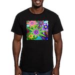 Exploding Stars Graphic Men's Fitted T-Shirt (dark