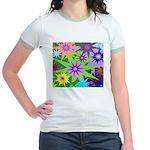 Exploding Stars Graphic Jr. Ringer T-Shirt