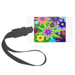 Exploding Stars Graphic Large Luggage Tag