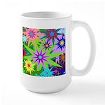 Exploding Stars Graphic Large Mug