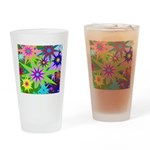 Exploding Stars Graphic Drinking Glass