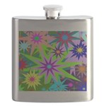 Exploding Stars Graphic Flask