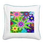 Exploding Stars Graphic Square Canvas Pillow