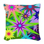 Exploding Stars Graphic Woven Throw Pillow
