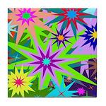 Exploding Stars Graphic Tile Coaster